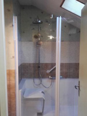 Pose douche près de Blois (41)